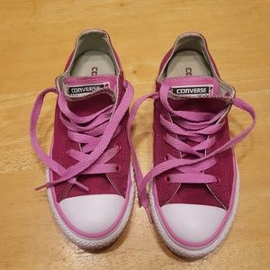 Girls pink converse all star  size 13